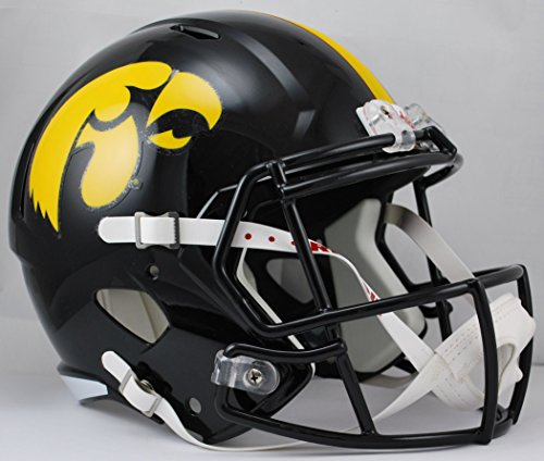 Riddell NCAA Iowa Hawkeyes Full Size Speed Replica Helmet, Yellow, Medium