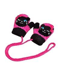 Dorapocket Baby Lovely Cartoon Vocal Gloves Toddler Mittens Coral Velvet Mitts,Cat