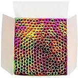 Wow Plastic Disposable Plastic Drinking Straws - 250 Count (neon) (Neon)