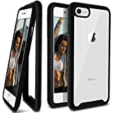 iPhone 8 Case, Ansiwee Scratch Resistant Full Body Hard Clear Back Shock Drop Proof Impact Resist Extreme Durable Protective Cover Case for iPhone 8 iPhone 7 iPhone 6s iPhone 6 4.7 Inch (Black)