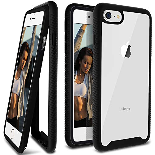 - iPhone 8 Case, Ansiwee Scratch Resistant Full Body Hard Clear Back Shock Drop Proof Impact Resist Extreme Durable Protective Cover Case for iPhone 8 iPhone 7 iPhone 6s iPhone 6 4.7 Inch (Black)