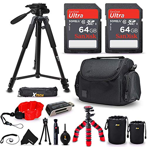 Professional Camera Accessories Kit for Digital & DSLR Cameras, Includes: 128GB SD Memory, Premium Camera Case, 72