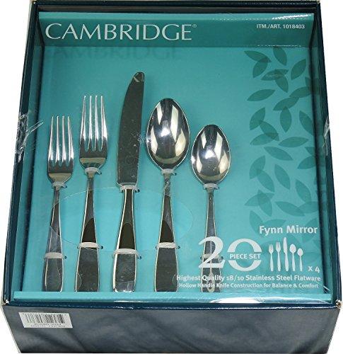 Cambridge Fynn Mirror 20-Piece Set Stainless Steel Flatware (Service for 4)