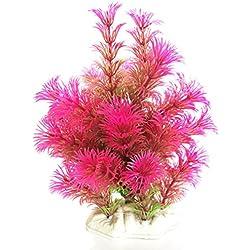 Muranba Plastic Emulational Decorative Long Leaf Plant for Aquarium (Purple)