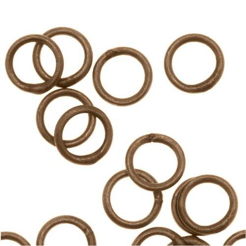 Beadaholique Antiqued Brass Closed Jump Rings 4mm 22 Gauge (20)