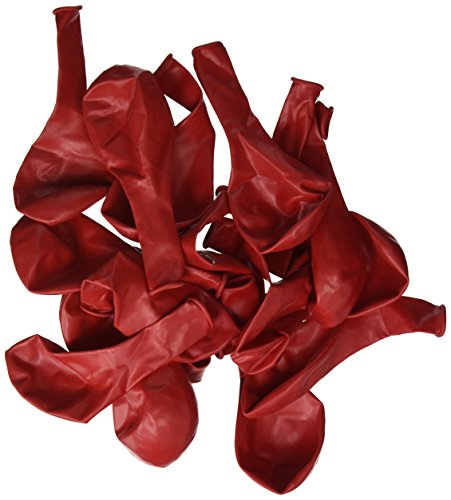 Cti Industries 100 Count Crystal Latex Balloons  12   Red