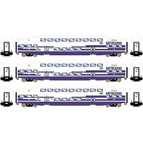 Athearn ATH25954 HO RTR Bombardier Coach, Metrolink