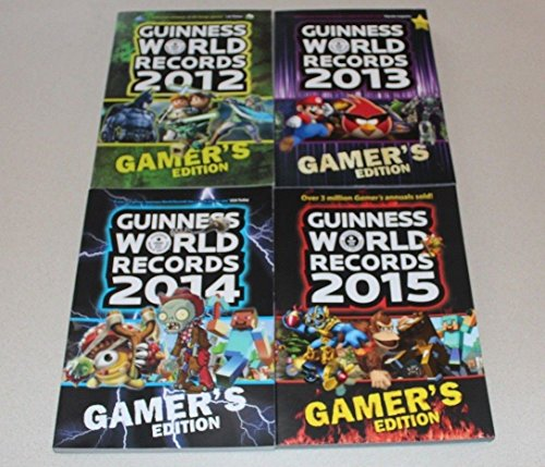 Guinness Book of World Records Gamer's Edition 4 Book Collection 2012 2013 2014 2015