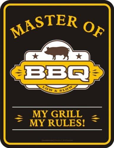 Blech-Schild mit Motiv von Multinatix Master of BBQ 17cm x 22cm