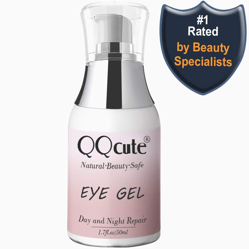 Eye Gel, QQcute Day & Night Anti-Aging Eye Treatment Cream for Wrinkle, Dark Circle, Fine Line, Puffy Eyes, Bags Best Hydrogel Eye Moisturizer for Women Mother's Day Gift - 1.7 fl oz. by QQcute