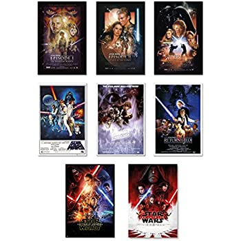 Amazon.com: Star Wars Deluxe Set of 6 Movie Posters From ...