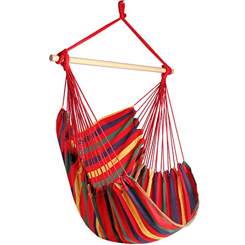 Chihee Hammock Chair Large Hammock Chair Relax Hanging Swing Chair Cotton Weave for Superior Comfort & Durability…