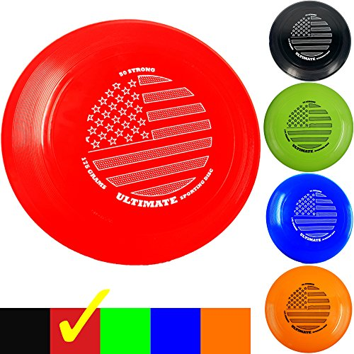 50 Strong Ultimate Frisbee 175 gram Flying Sporting Disc - Best Beach Toy for Kids and Adults - Fun Game for Summer - Made in USA (One - Ultrastar Set
