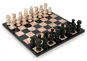 NOVICA Marble chess set, Check in Gray-PARENT(46523-P)