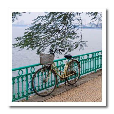 3dRose Danita Delimont - Bicycles - Vietnam, Hanoi. Tay Ho, West Lake, bicycle - 6x6 Iron on Heat Transfer for White Material (ht_257309_2)