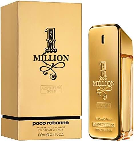 Paco Rabanne One Million Pure Parfum Spray for Men, 3.4 Ounce