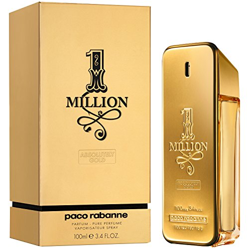 1 Million Absolutely Gold by Paco Rabanne for Men - 3.3 oz Pure Perfume Spray