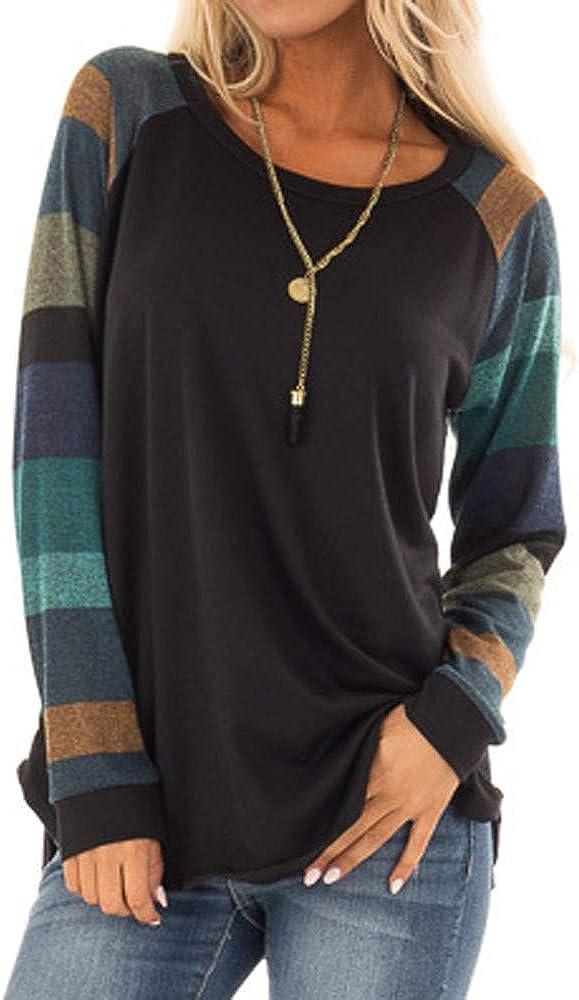 KANGMOON Womens Cotton Knitted Long Sleeve Lightweight Tunic Sweatshirt Tops Pullover BlousesS-XL