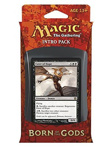 "Magic the Gathering Born of the Gods Intro Pack ""Death's Beginning"" with Eater of Hope Card - Black"
