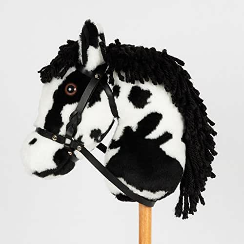 Montana Toy Companys Snowy Mountain Ponies Black Stick Pony Stick Horse Hobby Horse
