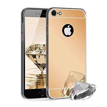 XCYYOO Funda Espejo para iPhone 7/iPhone 8, Protectora Movil Carcasa TPU Silicona Ultra-Fina Bumper Mirror Case, Goma Cubierta Cobertura Delgado Cover ...