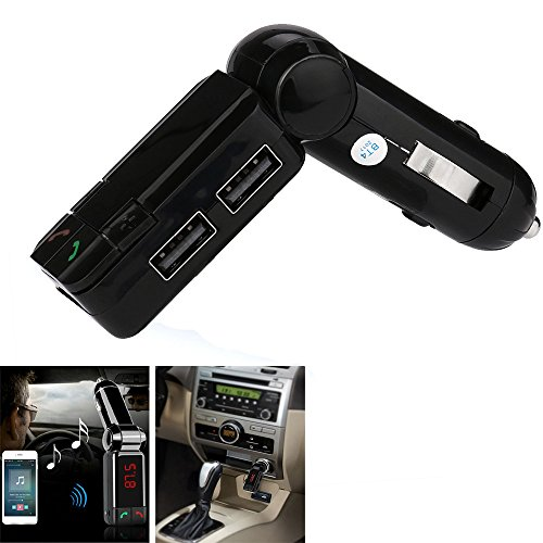 Car MP3, Hometom USB Car Kit Charger Wireless Blue-tooth Stereo MP3 Player FM Transmitter (Black)