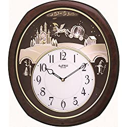 Rhythm Clocks Princess Fantasy Musical Motion Clock