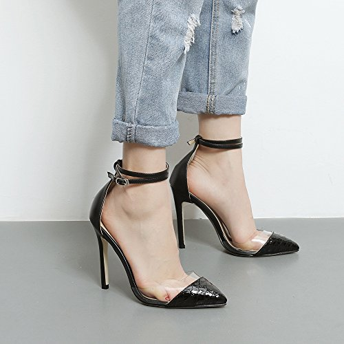 alti tacchi Apricot donna alti punta UE estivi tacco alto teste i colorati con RUGAI e sandali da Sandali scarpe a tacchi con color trasparenti xw6IqnUB
