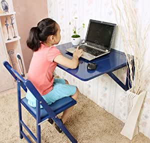 75 x 60 cm SoBuy Vertriebs, mesa, pared plegable de madera, FWT05-B color: azul con base en ángulo 2 sean aún más estables, (o. Sillas)