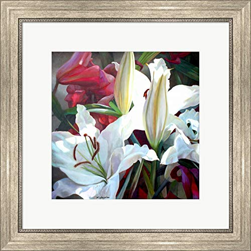 Ruffles & Trim by Jan McLaughlin Framed Art Print Wall Picture, Silver Scoop Frame, 20 x 20 inches