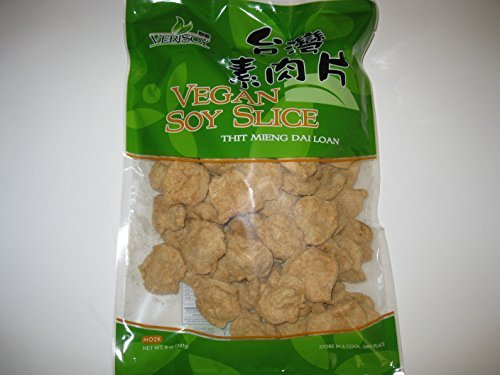 Slice Soy (Vsoy Natural Meatless Vegan Soy slice Textured Soy Protein Vegetarin Meat Substitute Unflavored 8 oz. by Soy Protein)
