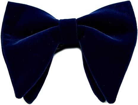 Ecravate Noeud papillon homme en velours surdimensionn/é Bleu