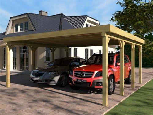 Silverstone III - Porche para coche (tejado plano, 600 x 600 cm ...