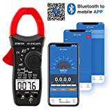 Clamp Multimeter BT-570C-APP BTMETER Auto Range AC/DC Clamp meter 4000 Counts, Resistance, Cap, Hz, Duty Cycle, Temperature