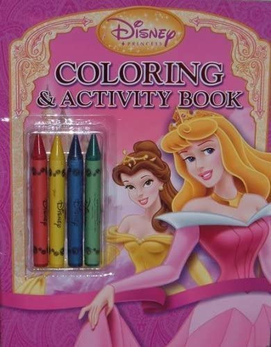 Amazon Com Disney Princess Coloring And Activity Book With 4 Jumbo Crayons Everything Else