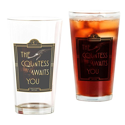 CafePress - AHS Hotel The Countess Awaits - Pint Glass, 16 oz. Drinking - Horror Glasses Story American
