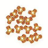 Bulk Buy: Darice DIY Crafts Tri-Beads Root Beer 11mm 30000 Beads (1-Pack) 06102-11-T6