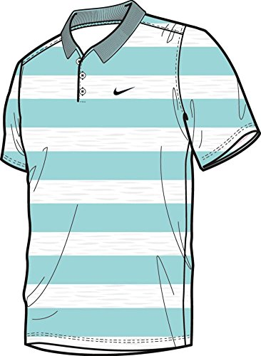Nike Men's Golf Victory Bold Stripe Polo - Large - Copa/Black