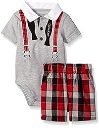 Baby Boys' Interlock Bodysuit With Woven Shorts