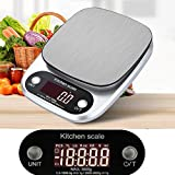 Digital Scale,LtrottedJ Digital Kitchen Scale ,Balance Slim Stainless Steel Electronic Scales (B)