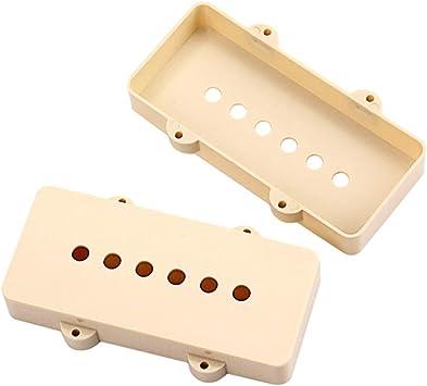 Allsunny 2Pcs Guitarra Eléctrica Pickup Plastic Cover Parts De ...