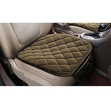 2 Pacco Coprisedile Anteriore HCMAX Morbido Coprisedile per Auto Cuscino Tampone Stuoia Protettore per Forniture Automatiche per Sedan Hatchback SUV