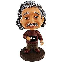 Einstein Toys Albert Einstein Bobblehead with The Famous Formula E=mc² Dashboard Accessories/Desk Decor/Collection