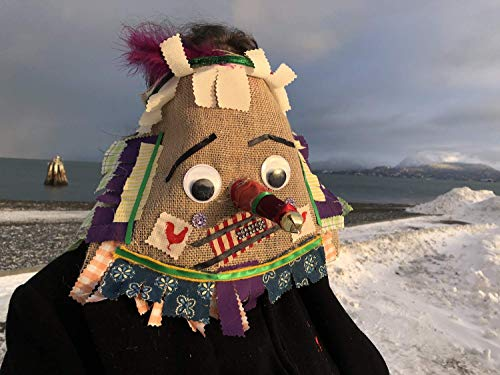 Cajun Fringe Costume, Courir de Mardi Gras Mask, traditional Mardi Gras costume, Creepy Burlap Adult Halloween, carnival, masquerade mask ()