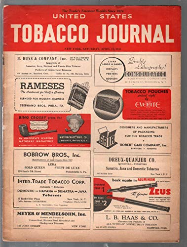 United States Tobacco Journal 4/13/1946-Topps Gum-classic ads-G