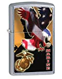 Personalized Message Engraved Customized Gift For Him For Her U.S. Marine Corps. Zippo Indoor Outdoor Windproof Lighter (Style4)