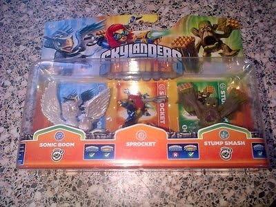 Skylanders Giants - Triple Character Pack - Glitter Sparkle Pearl Sonic Boom, Sprocket, Stump Smash (Wii/PS3/Xbox 360/3DS/Wii U) [Importación Inglesa]: Amazon.es: Videojuegos