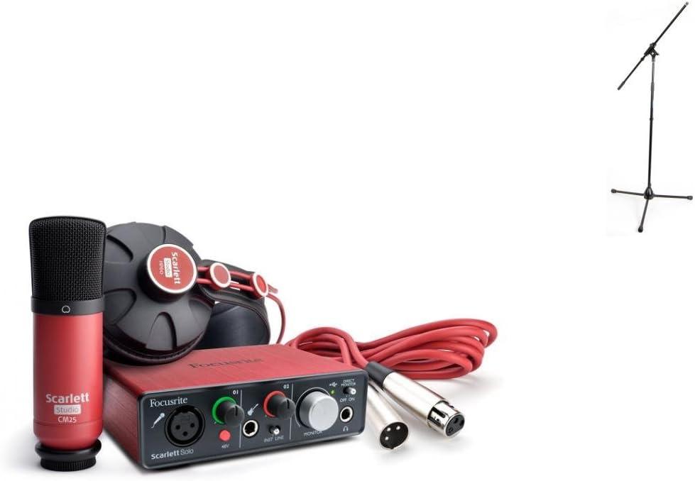 Interfaces Audio Focusrite Scarlett Solo Studio Pack + pie de micro USB: Amazon.es: Instrumentos musicales