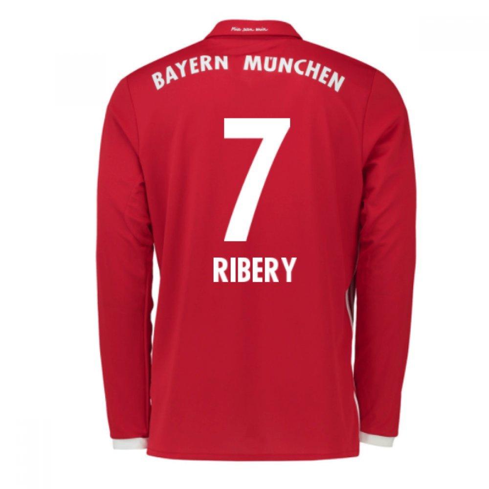 2016-17 Bayern Munich Long Sleeve Home Shirt (Ribery 7) B077Z1NTHNRed Small 36-38\