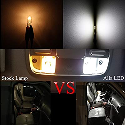 Alla Lighting 4x 194 168 LED Light Bulb 6000K White Super Bright 175 168 2825 W5W T10 Wedge 3014 SMD Chipsets LED Replacement Bulbs CAN-BUS for Car Interior Map Dome Trunk License Plate Parking Lights: Automotive